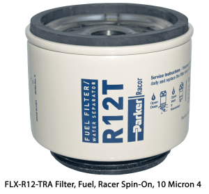 FLX-R12-TRA Filter, Fuel, Racer Spin-On, 10 Micron 4