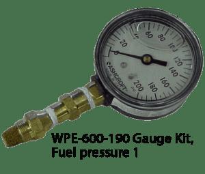 WPE-600-190 Gauge Kit, Fuel pressure 1
