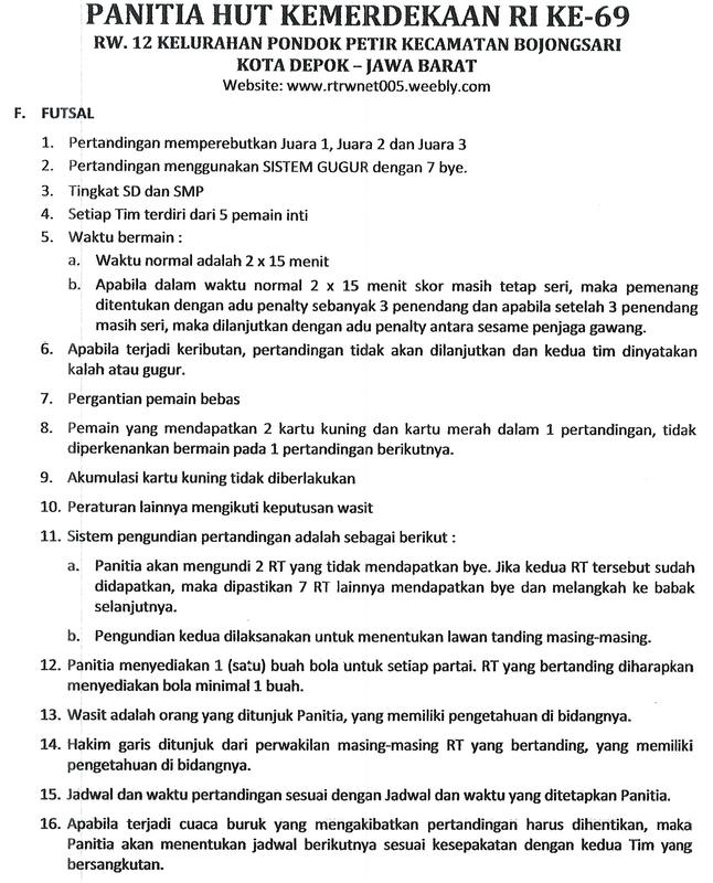 Peraturan Bola Futsal : peraturan, futsal, Peraturan, Jadwal, Pertandingan, Futsal, Tenis