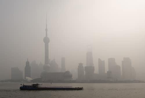 air pollution over Shanghai asthma