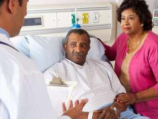 Black patient in bed