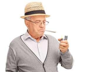 Senior man cannabis