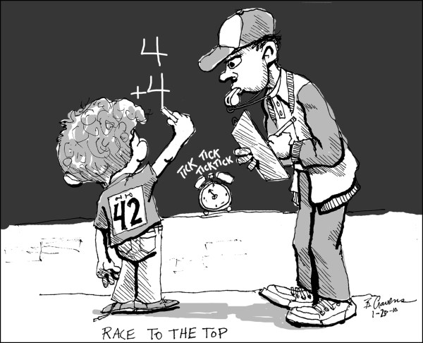Race to the Top Cartoon