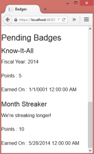 Badge-List-View
