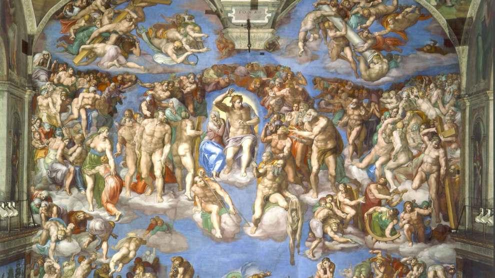 照片:米開朗基羅(Michelangelo Buonarroti),《最後的審判》(The Last Judgement)