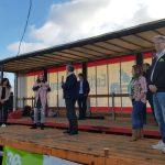Boeren manifestatie met een aantal politieke partijen in Lievelde