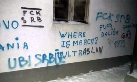 """Српска листа оштро осудила исписивање графита """"ОВК"""" у Угљару"""