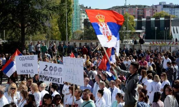 У Косовској Митровици јуче одржан скуп поводом 2000. дана откако је Приштина преузела обавезу да формира ЗСО