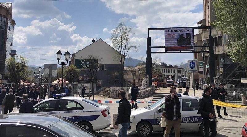 Rekonstrukcija ubistva zatvorila trg u Novom Pazaru