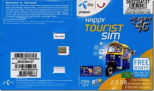tourist sim8days