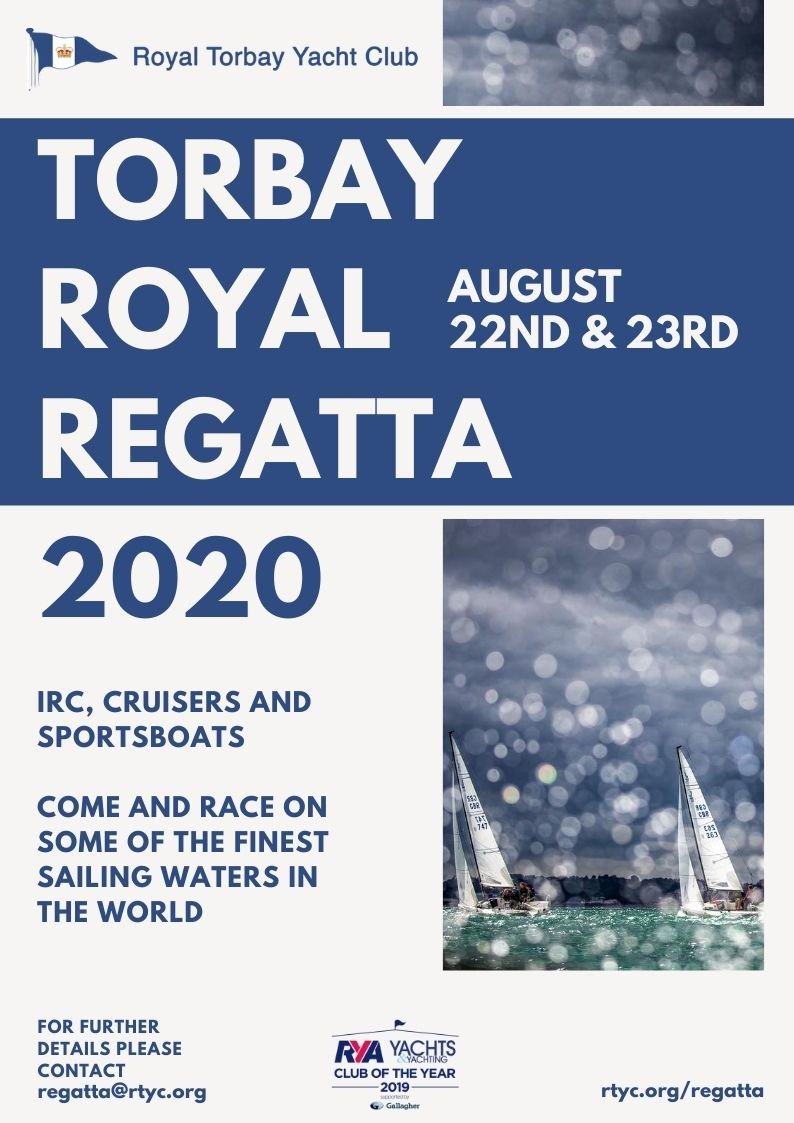 Torbay Royal Regatta 2020 Promotional Poster