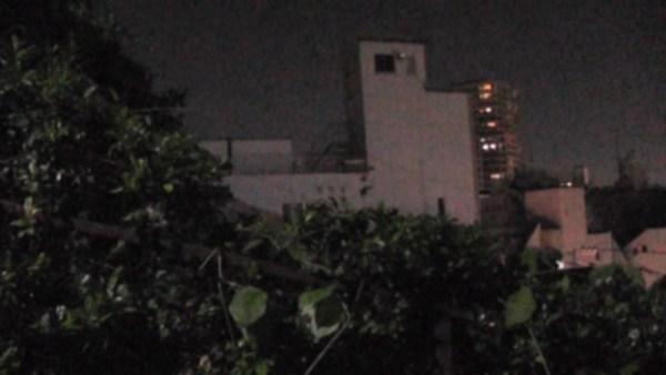 生垣側@夜の百段坂