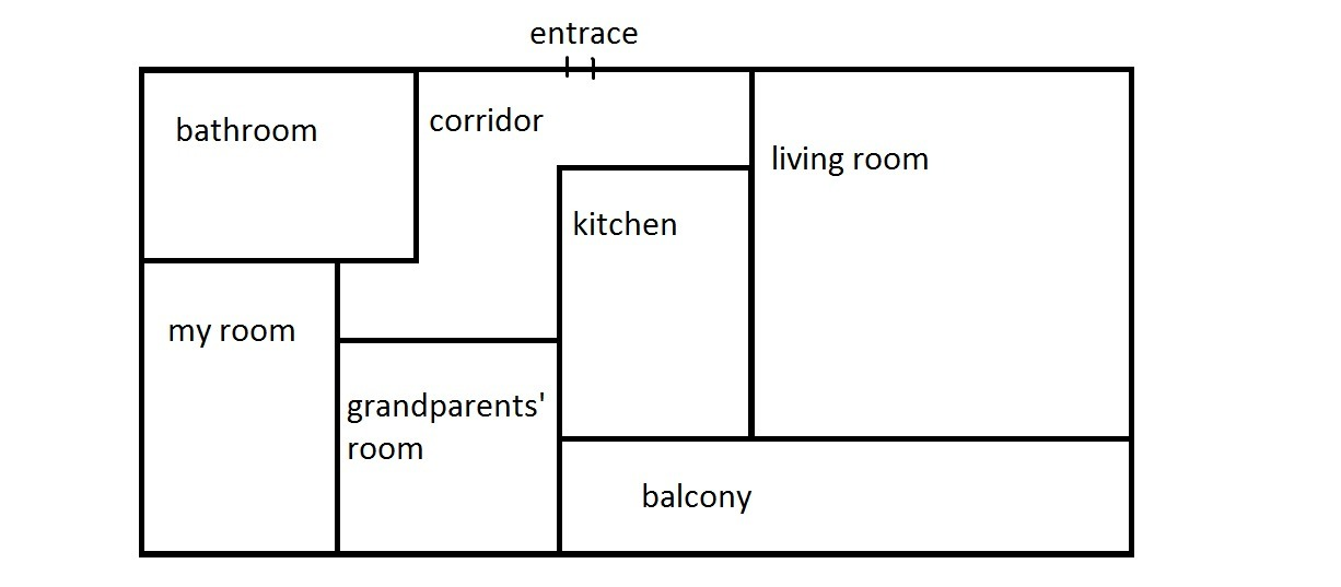 Project Work. Draw a plan of your house. Write five