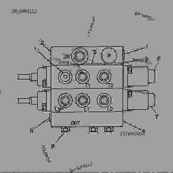 Lift and tilt valve bobcat 763