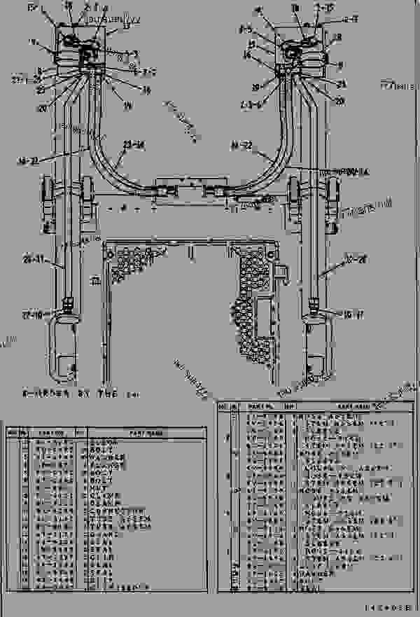 9U8593 LINES GROUP-LIFT CYLINDER LIFT CYLINDER LINES GROUP