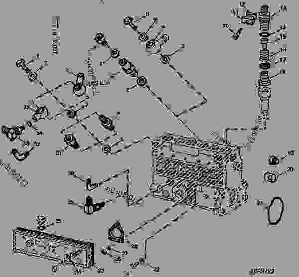 FUEL INJECTION PUMP HOUSING CONNECTORS (6466TH) [01I06
