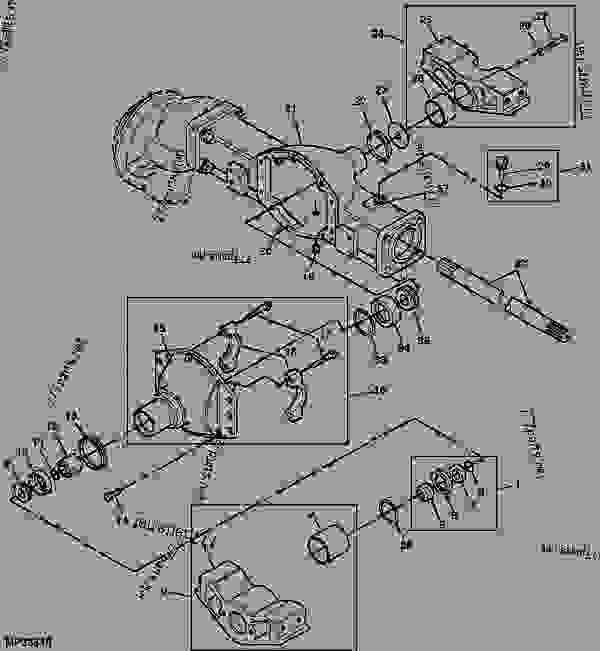 John deere 4100 front axle diagram