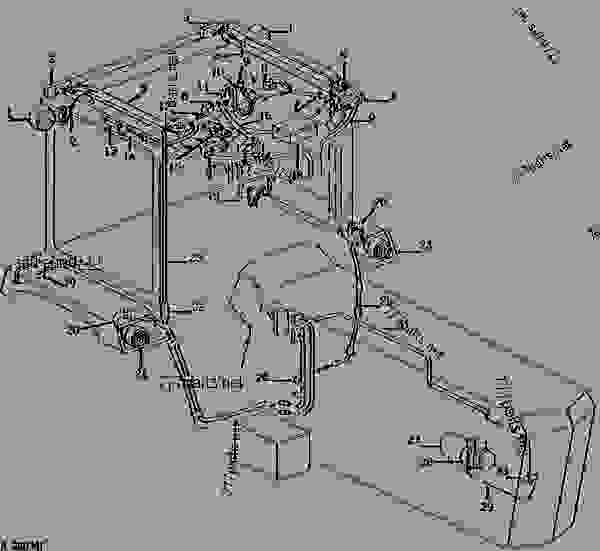 5 way switch wiring diagram light 2 australia harness (roll-gard and sound-gard body) [02b11] - ТРАКТОР john deere 4230 tractor ...