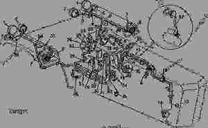 LAMP AND ENGINE WIRING [02B09]  ТРАКТОР John Deere 4430
