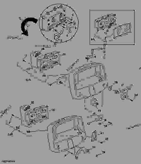 wiring diagram for 4 way light switch 3 phase 5 pin plug australia instrument panel - ТРАКТОР john deere 5410 tractor 5210, 5310, and 5510 tractors ...