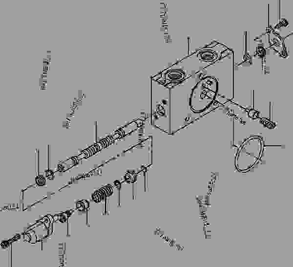 VALVE SECTION DRAWBAR LIFT (RIGHT SIDE), DRAWBAR SIDE