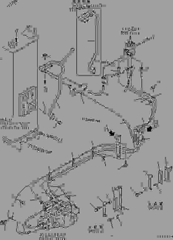 HYDRAULIC LINE (P.P.C. VALVE TO CONTROL VALVE AND DRAIN