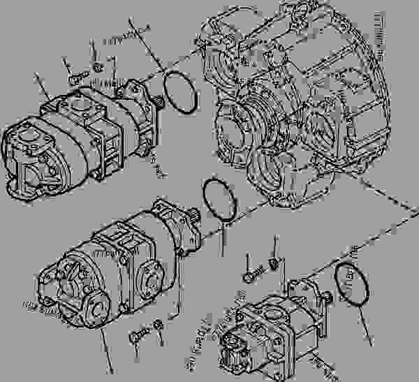 FIG NO. H0210-01A0 HYDRAULIC PUMP PUMP AND MOUNTING PARTS