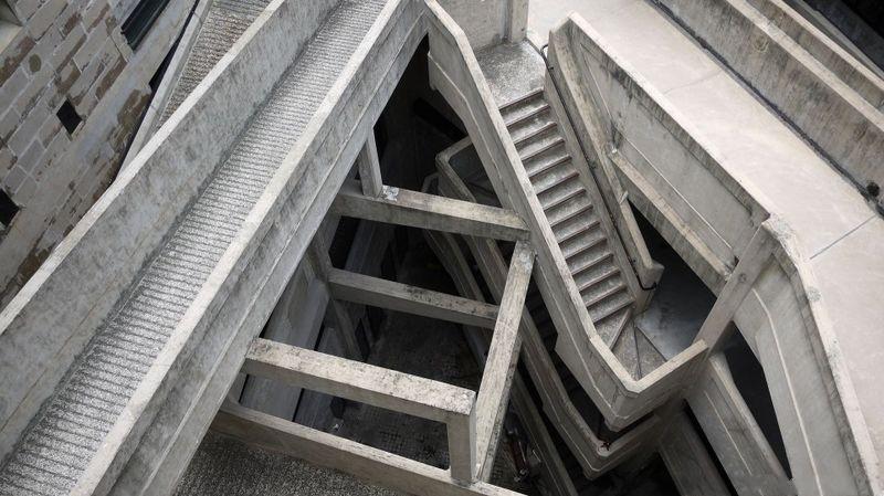 Необычное бетонное здание в Шанхае (13 фото)