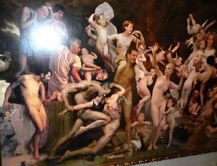 """Прикольная картина """"Содом и Гоморра"""" (4 фото)"""