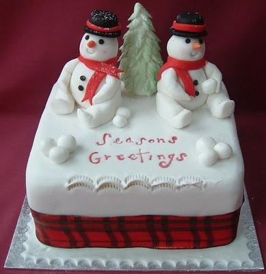 Новогодние торты (49 фото)