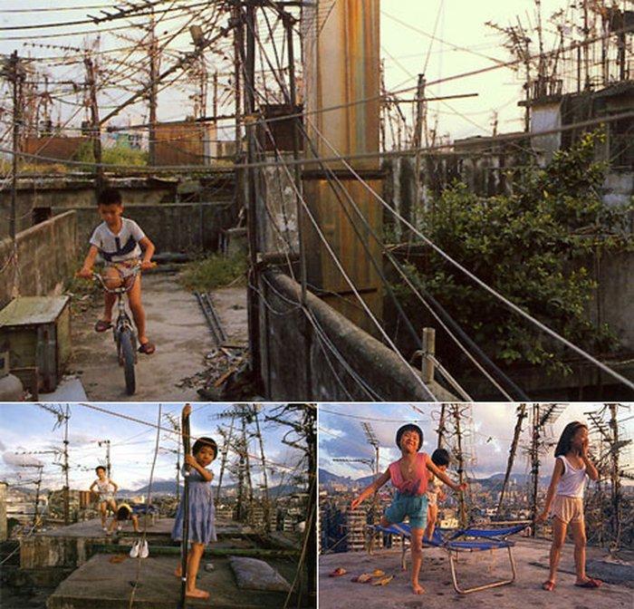 Велосипедные дорожки, как правило, проходят по крышам. Там же обычно играют дети и не видят в этом ничего печального (фото с сайта twenty4.co.uk, Greg Girard, Ian Lambot).