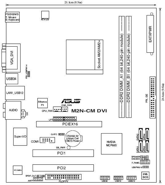 Обзор материнской платы ASUS M2N-CM DVI, Страница 1. GECID.com