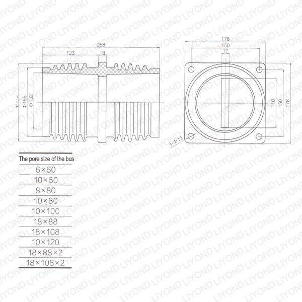 Yueqing Liyond Electric Co., Ltd. Проходной изолятор