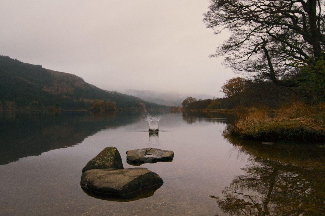 Loch Chin in the Trossachs, Scotland.