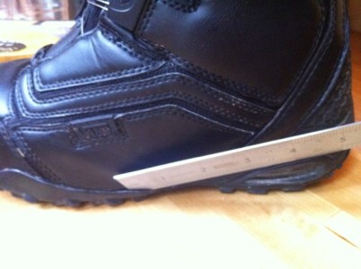 Vans Cirro 2011. Left boot showing where sole is parting from leather upper.