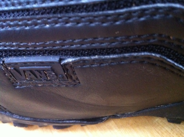 Vans Cirro 2011. Left boot showing where sole is parting from leather upper. Less than twenty days riding.