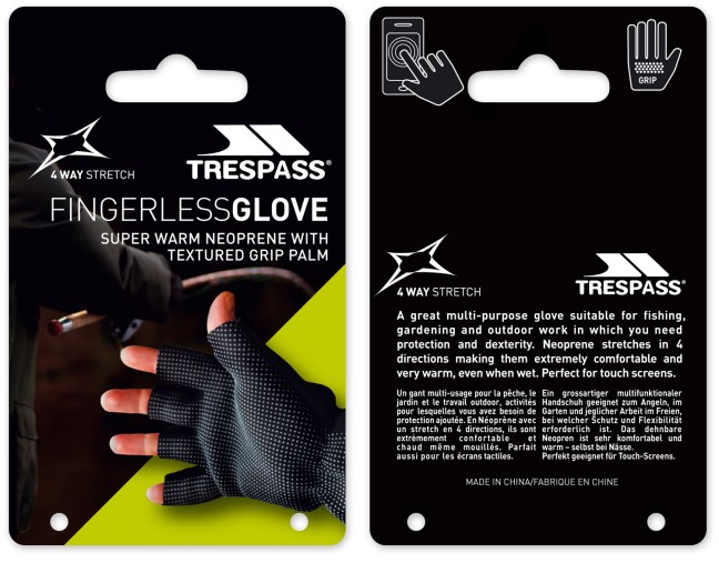 Design and photography for glove packaging.