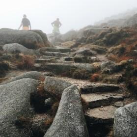 Hand built steps on Goatfell