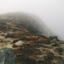 towards the summit of Goatfell