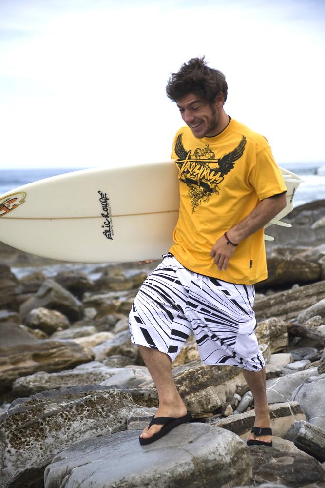 T-shirt & short print design for surf range.