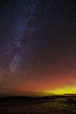 Milkyway and Aurora from Aridsaig