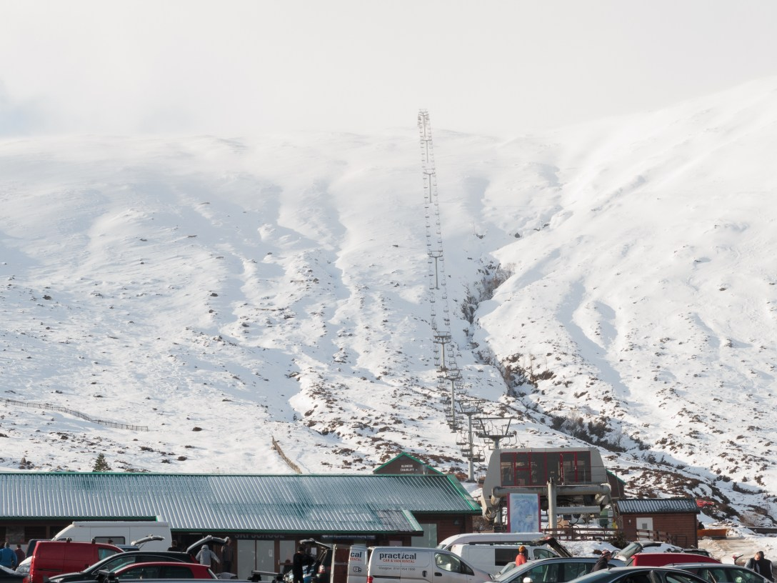 The access lift from the car park at glencoe mountain resort