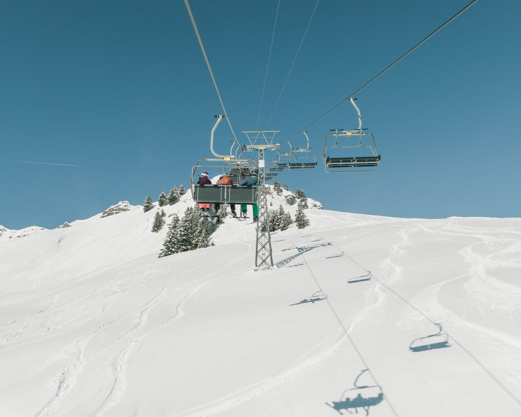 Chairlift from La Crosets