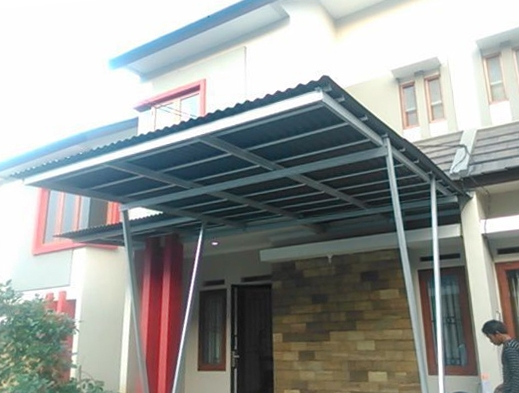 contoh atap baja ringan rumah minimalis kanopi galvalum harga ruangguruku com
