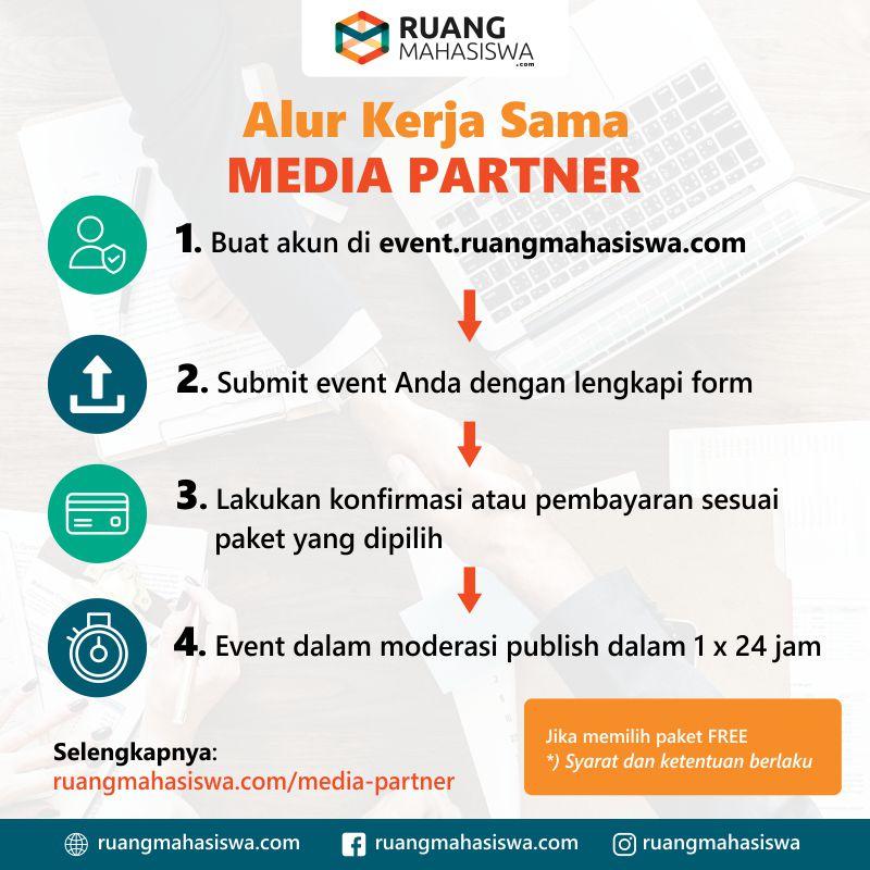 alur kerjasama media partner event ruangmahasiswa