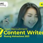 Open Recruitment Content Writer 2021