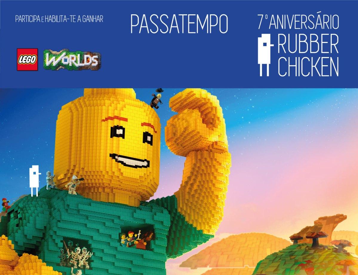 7º ANIVERSÁRIO RUBBER CHICKEN: LEGO WORLDS PARA PS4