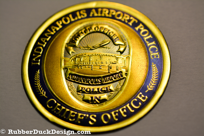 Embossed Gold Foil Seal with Gold, Blue, and Silver Tint - Government Seal