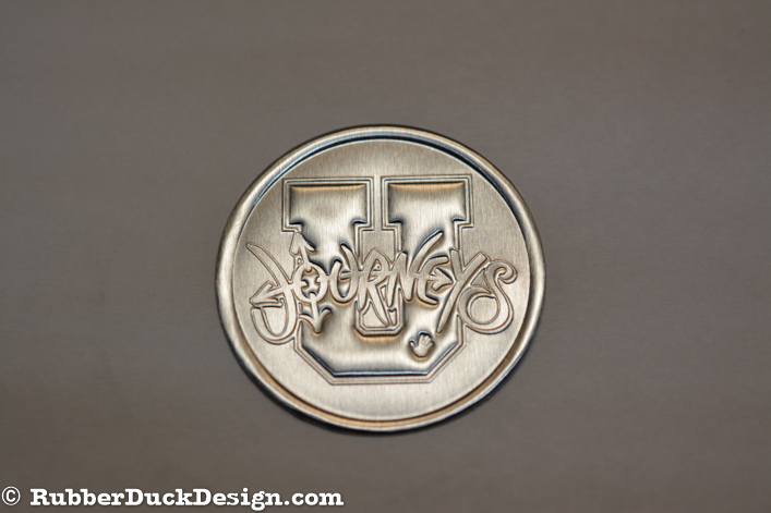 Blind Embossed Silver Foil Seal - Corporate Seal