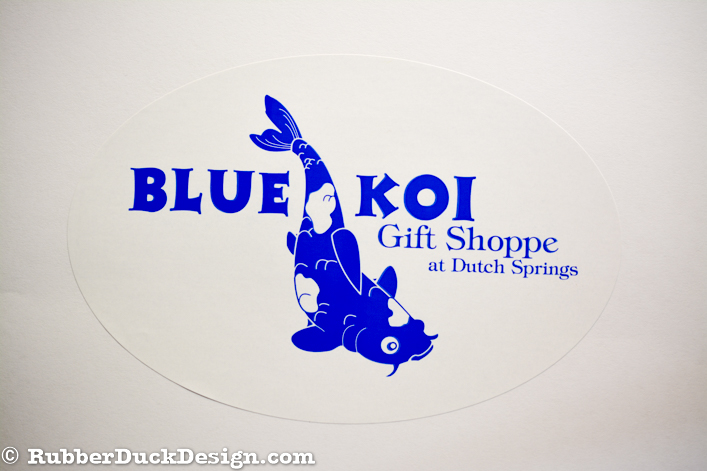 Ink Printed Seal - Blue Ink on White Gloss Stock